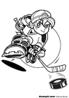 Coloriage faire du hockey