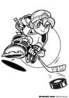 Coloriage faire du hockey