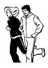 Coloriage faire du jogging