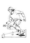 Coloriage faire du patin à roulettes