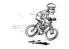 Coloriage faire du vélo