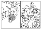 Coloriage faire du vélo - sécurité