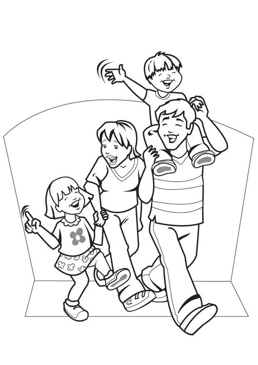 Coloriage famille