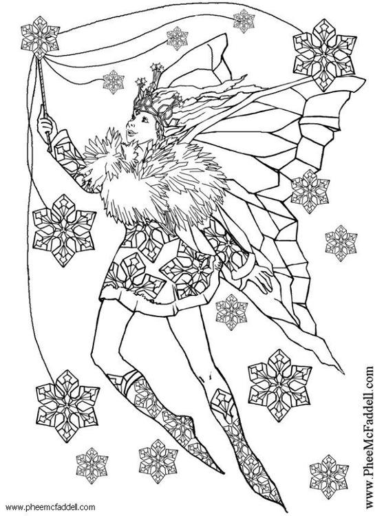 Coloriage f e des flocons de neige img 6117 - Dessin flocon de neige simple ...