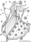 Coloriage fée d'hiver