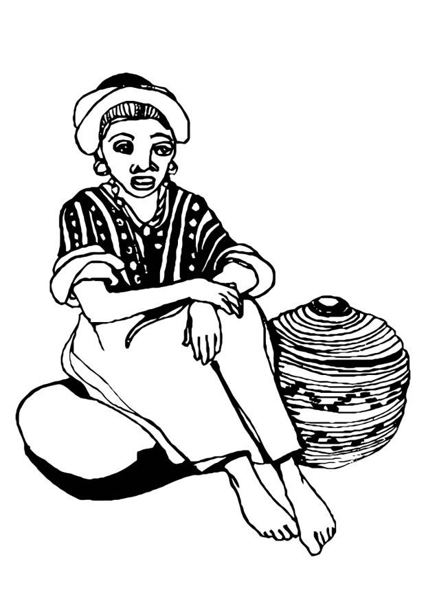 Coloriage femme img 10980 - Dessin femme africaine coloriage ...