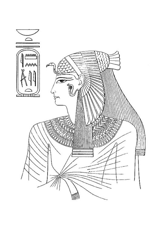 Coloriage femme egyptienne