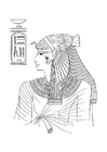 Coloriages femme egyptienne