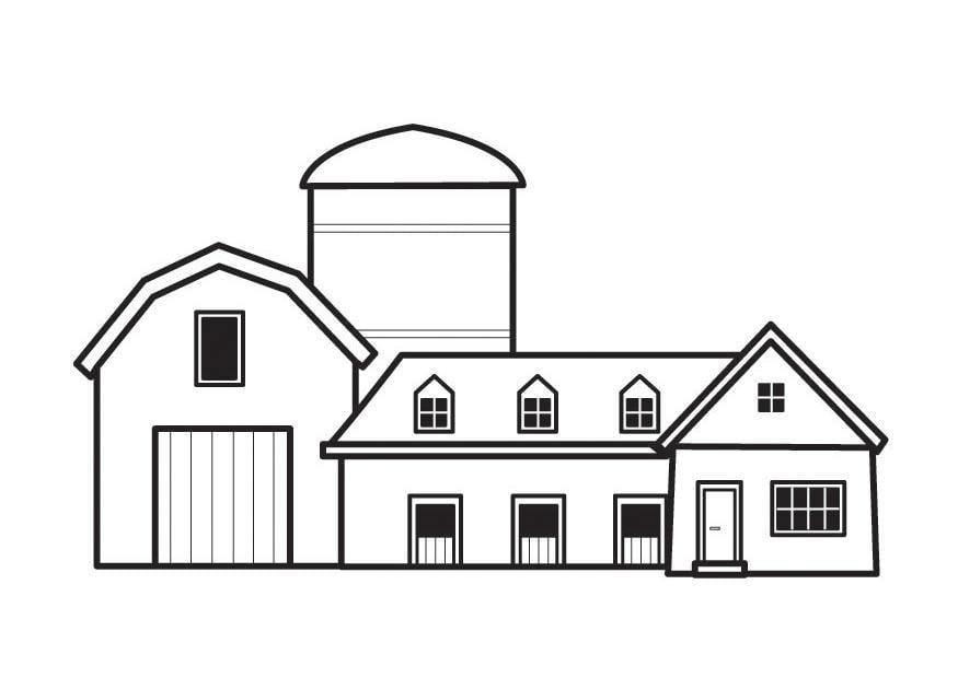 Coloriage Ferme Maison.Coloriage Ferme Img 23128 Images