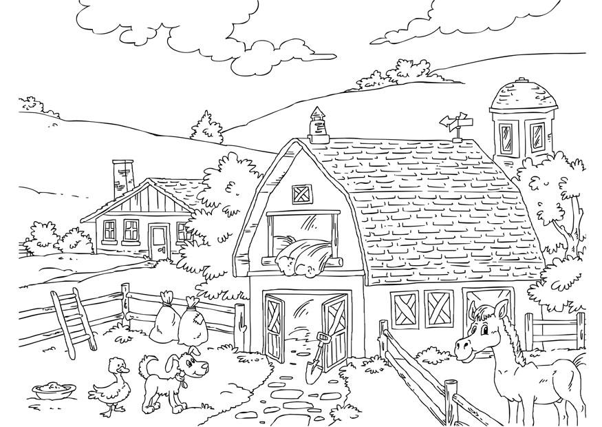 Coloriage Ferme Img 26227
