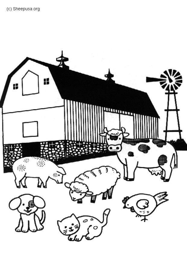 Dessin ferme imprimer - Dessin d une ferme ...
