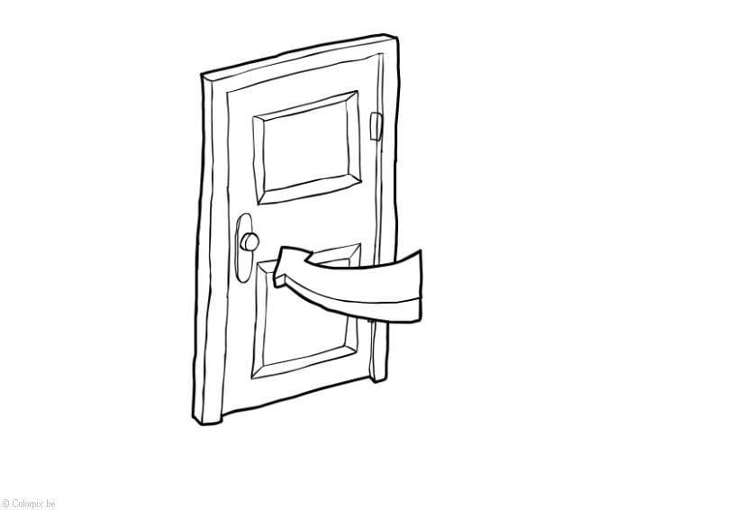 Coloriage fermer la porte conomie d 39 nergie img 14414 - Image fermer la porte ...