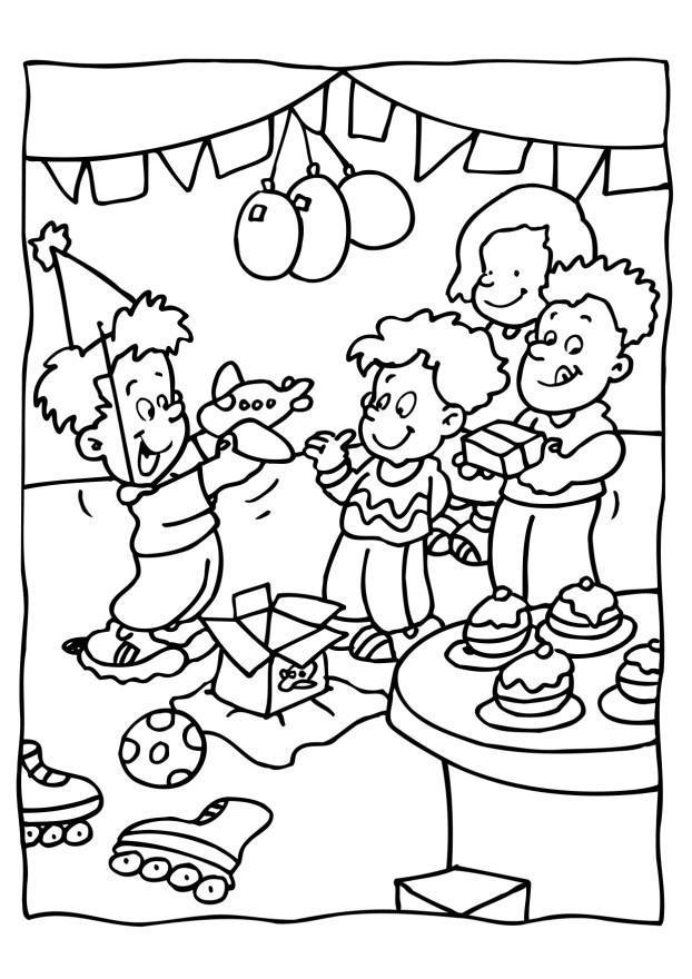 Coloriage Fete Ecole.Coloriage Faªte D Anniversaire Img 6560 Images