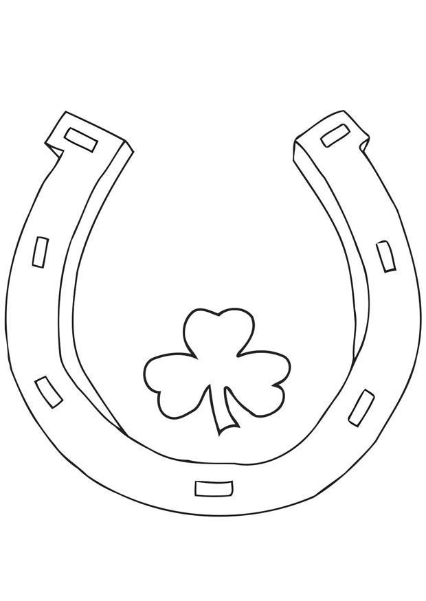 Coloriage f te de la saint patrick img 21702 - Fer a cheval dessin ...