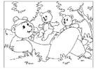 Coloriage fête des pères - ours