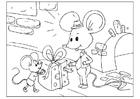 Coloriage fête des pères - souris