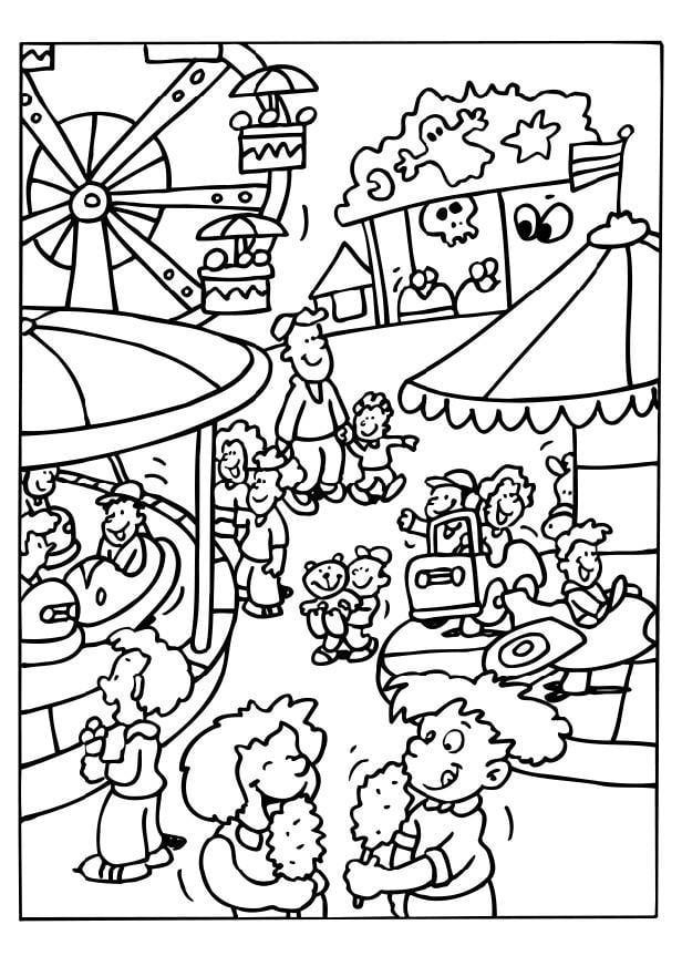Coloriage Kermesse Ecole.Coloriage Faªte Foraine Img 6514 Images