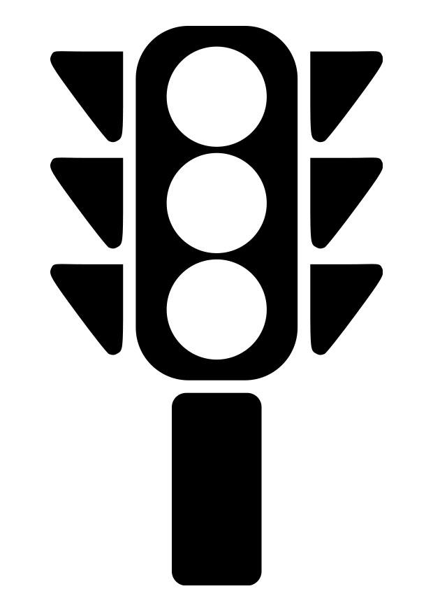 Favori Coloriage feu de signalisation - img 19268 AH65