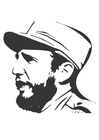 Coloriages Fidel Castro