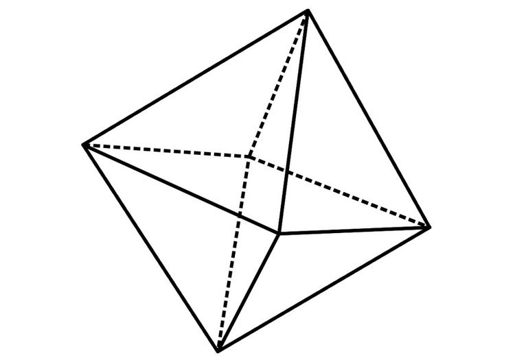 Coloriage figure g om trique octa dre img 19237 images - Coloriage geometrique ...