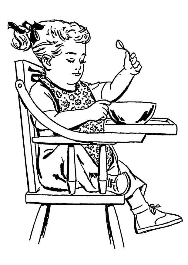 Coloriage Fille Dans Chaise Haute Img 18899