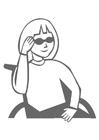 Coloriage fille en fauteuil roulant