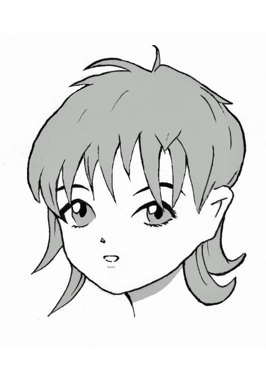 Coloriage Fille Manga Img 8970