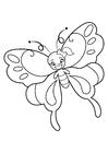Coloriage fille papillon