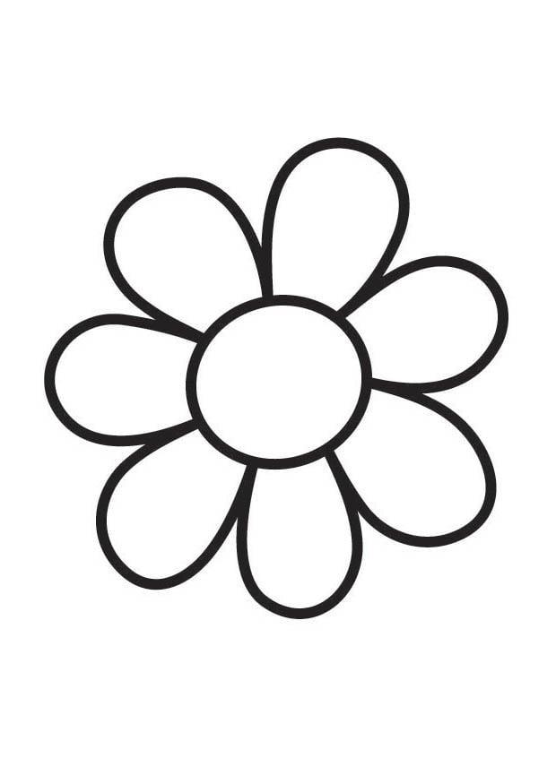 coloriage fleur i