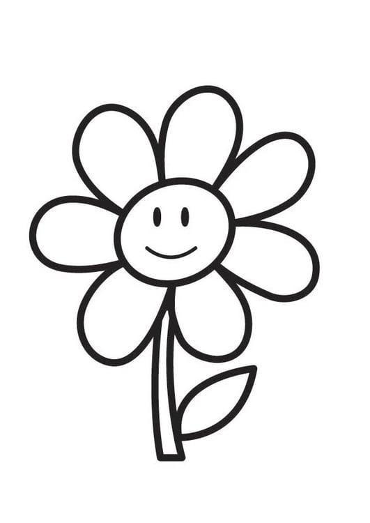 Coloriage Fleur img 18354