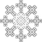Coloriage flocon de neige