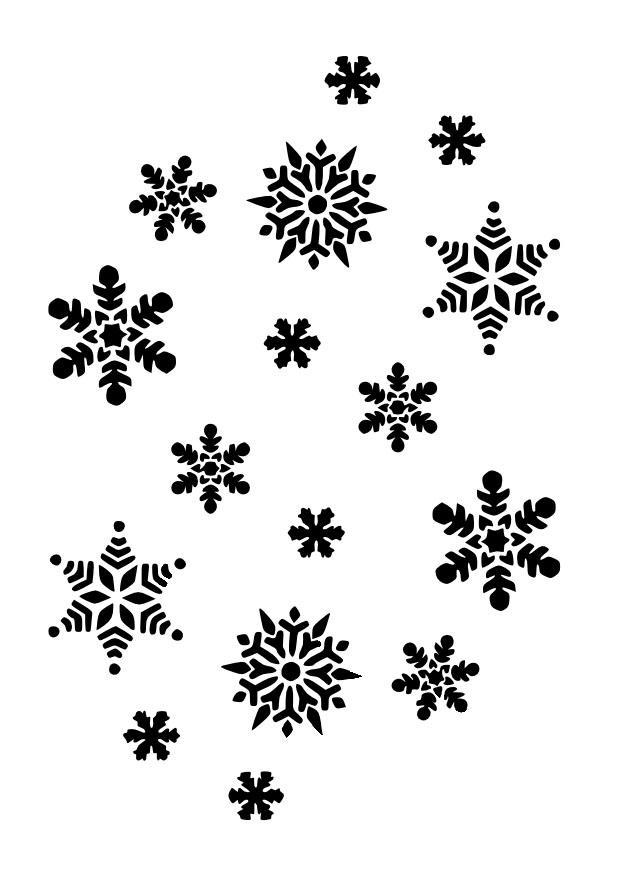 Coloriage flocons de neige img 10023 - Dessin flocon de neige simple ...