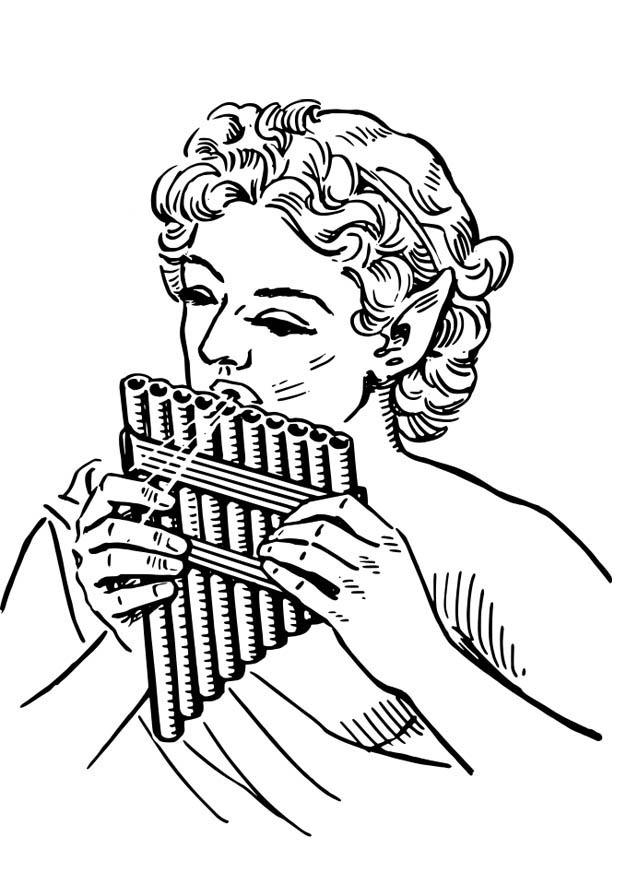 Coloriage fl te de pan img 18579 - Dessin de flute ...