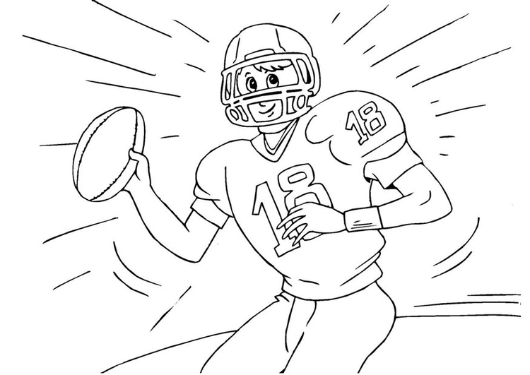 Coloriage Football Americain.Coloriage Football Americain Img 25985