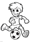Coloriage football