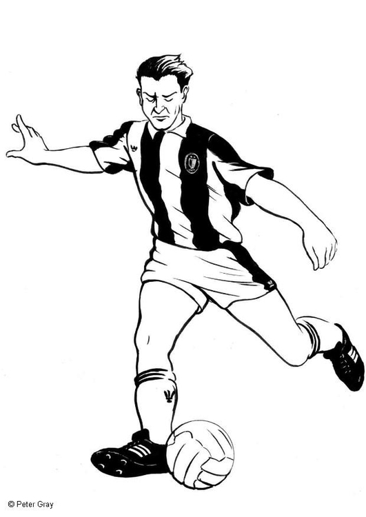 Coloriage Footballeur Img 6934 Images