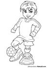 Coloriage footballeur