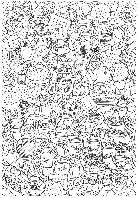 Coloriage friandises