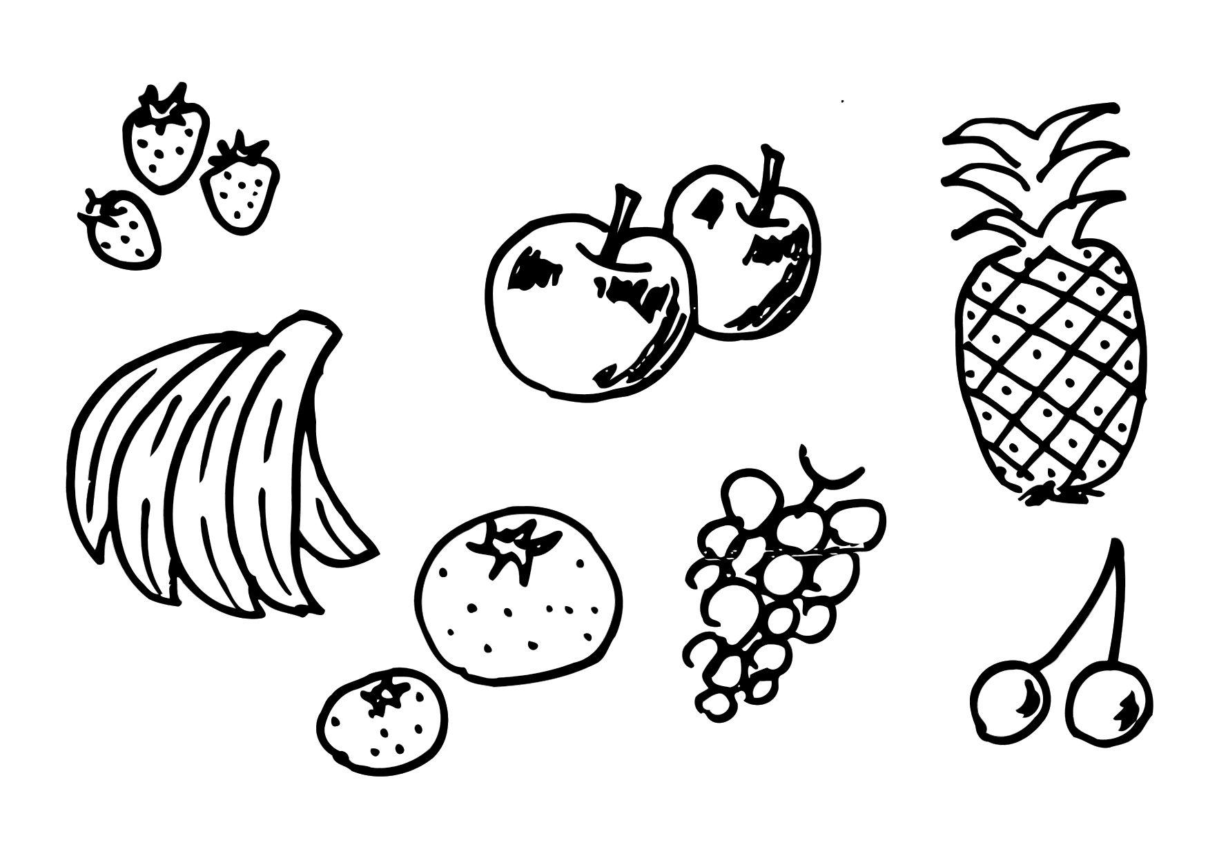 Coloriage fruits img 12300 - Fruits coloriage ...