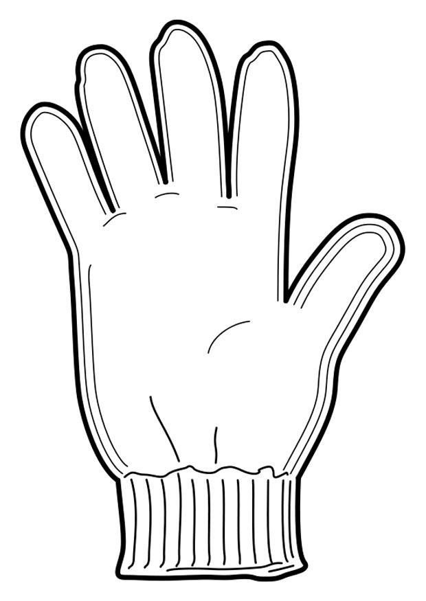 Coloriage gant img 18953 images - Dessin gant de boxe ...
