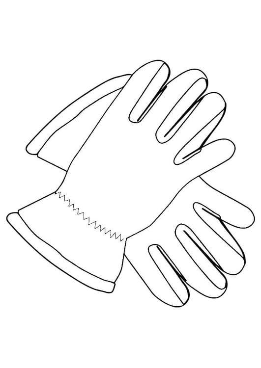 Coloriage gants img 19339 - Dessin gant de boxe ...
