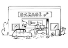 Coloriage garage
