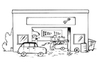 Coloriage garage - sans texte
