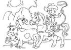 Coloriage garder les vaches