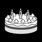 Coloriage gateau - anniversaire