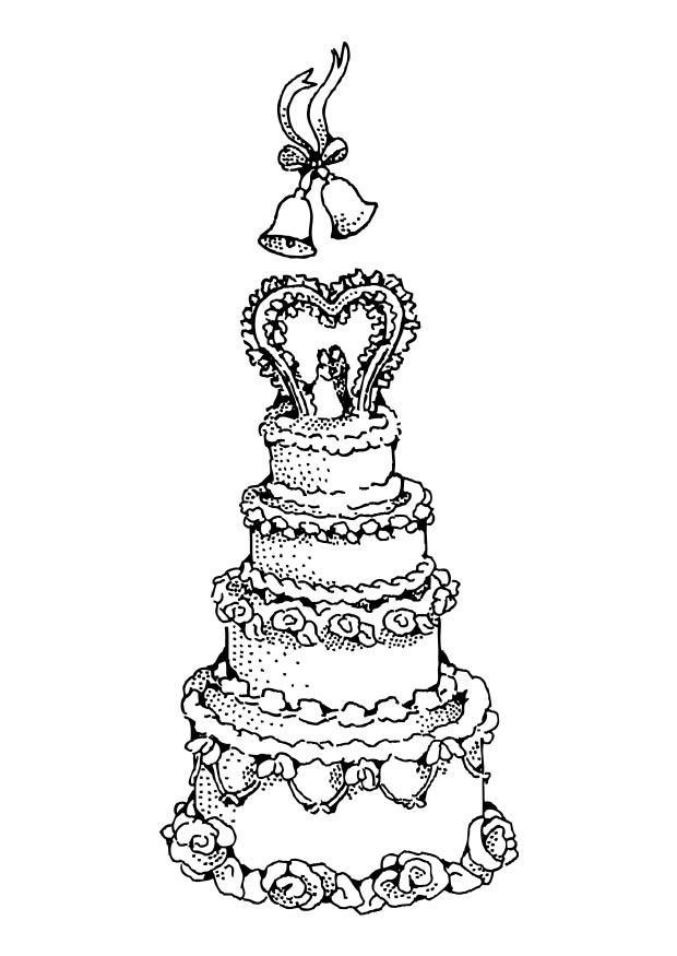 Coloriage g teau de mariage img 17388 - Coloriage de gateau ...