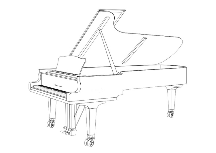 Coloriage Grand piano