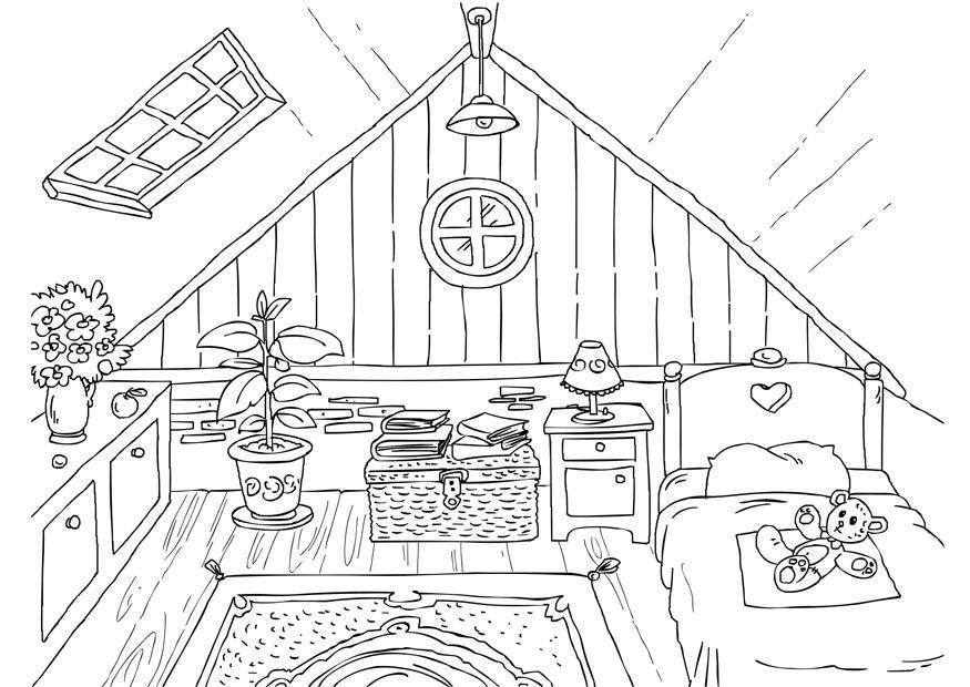Coloriage grenier img 26226 - Dibujos de cocina para colorear ...