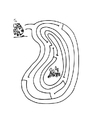 Coloriage grenouille labyrinthe