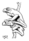 Coloriage grenouilles